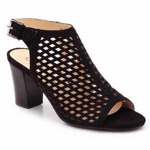 Unisa Black Peep Toe Sandals Heels Ungaila 7 Shoes